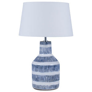 Blue and White 60's style lamp