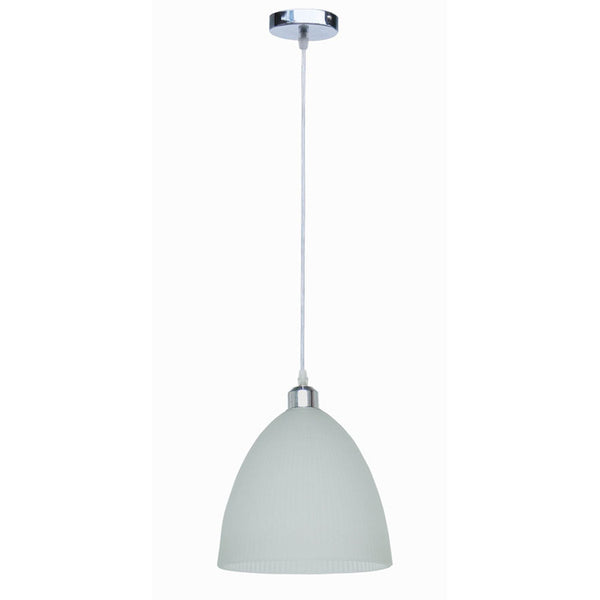 Ribbed Frosted Glass Pendant Light