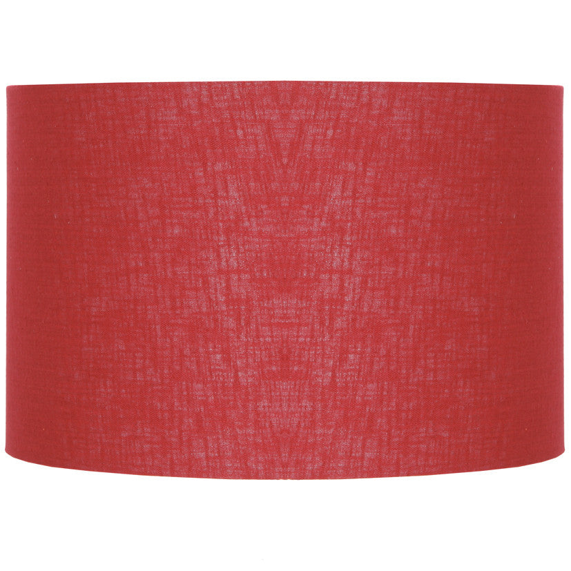 "red 18"" drum shade"