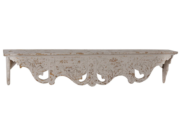 Carved wall shelve