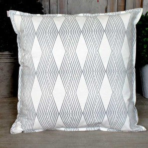 Blue Geometric Patterned Cushion