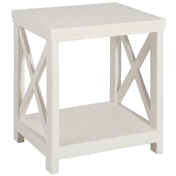 Cross Frame Lamp Table