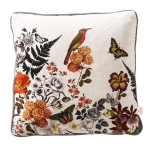 Country cushion with butterfly