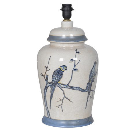 Blue and White Parrot Lamp