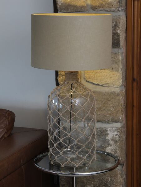 Glass Lamp with String Netting