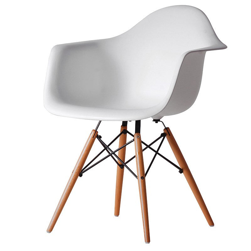 White Easmes style dining chair