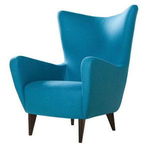 indigo blue wing chair