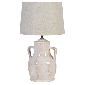 pottery urn lamp and shade