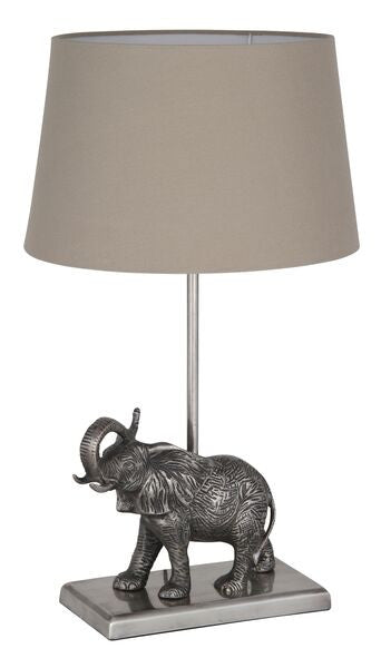 Elephant Table Lamp With Shade Decor Us