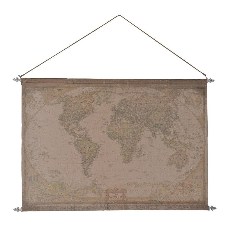 Fabric hanging world map decor us fabric hanging world map gumiabroncs Image collections