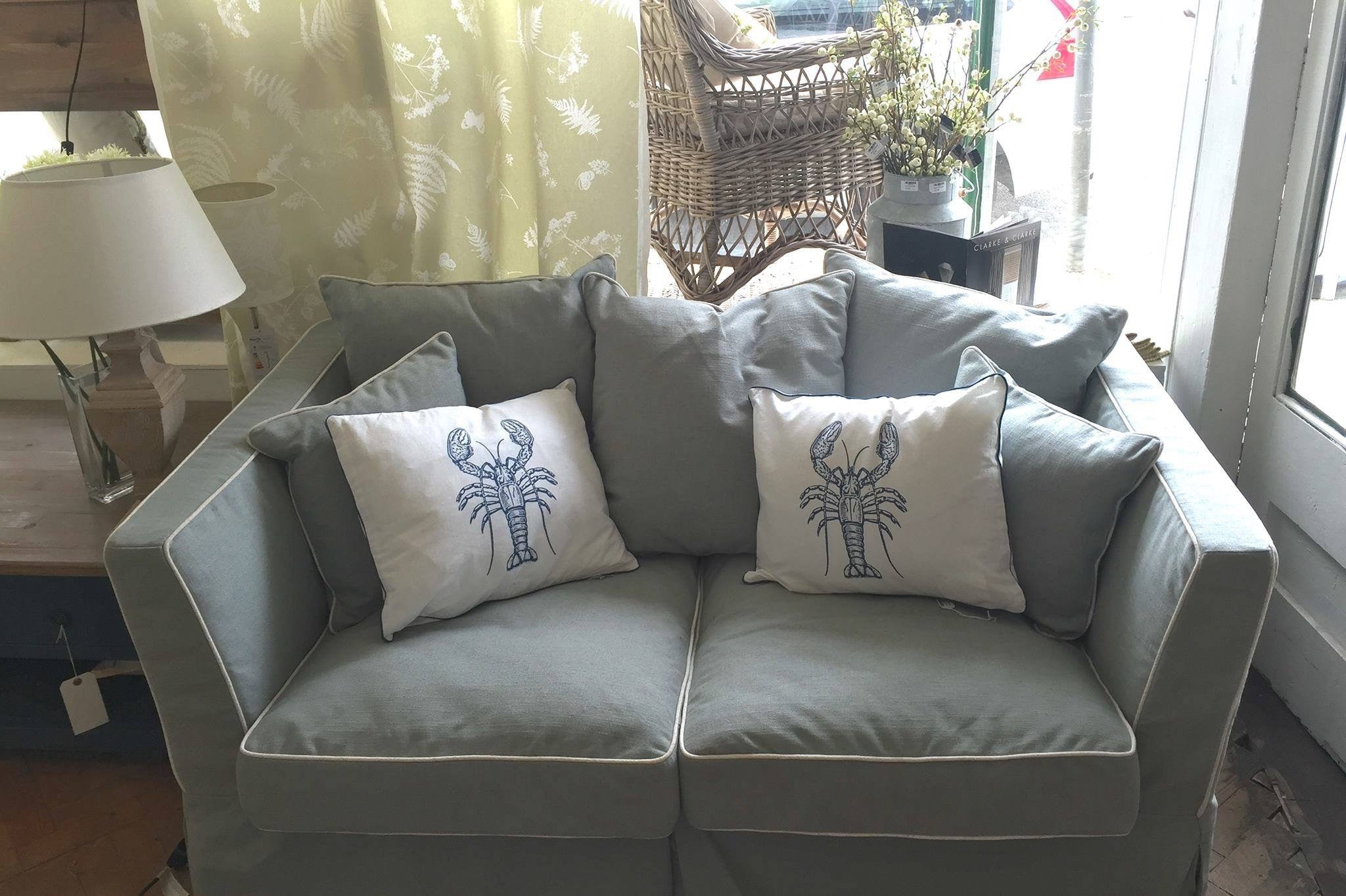 Light Slate-Blue Two Seater Settee