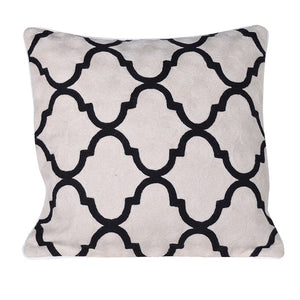 Black and White Geometric Cushion