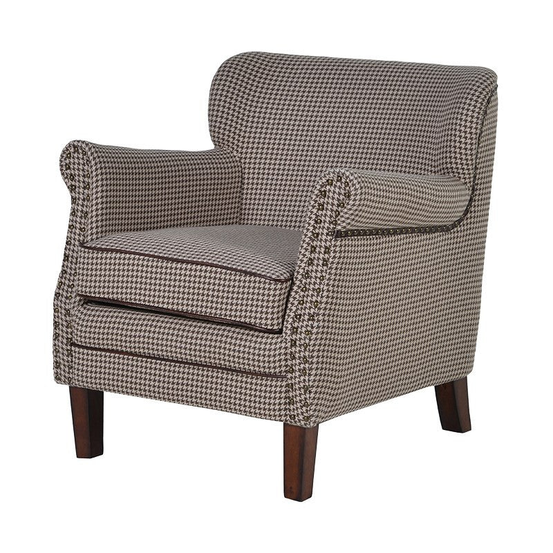 Tub chair with studs