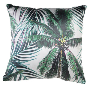 green botanical cushion