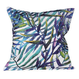 tropical blue cushion