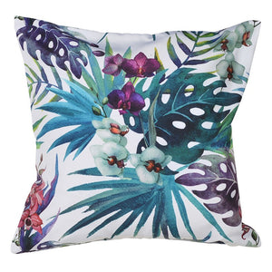 botanical blue orchid cushion