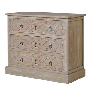 carved front chest of drawers