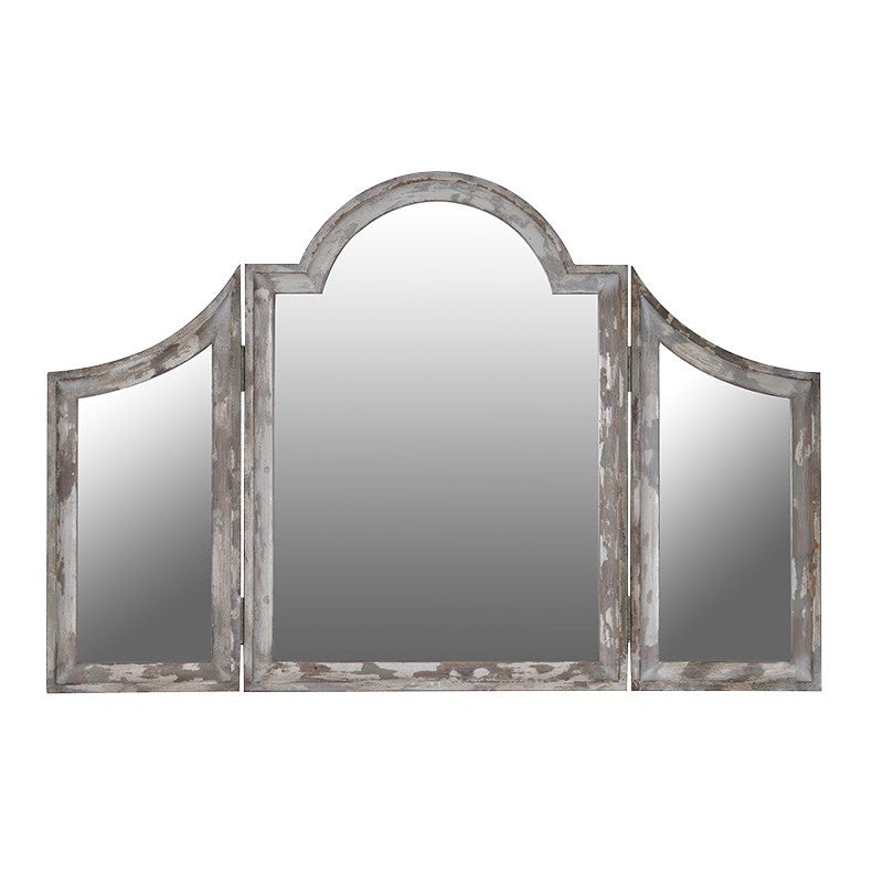 Stone Effect triple mirror