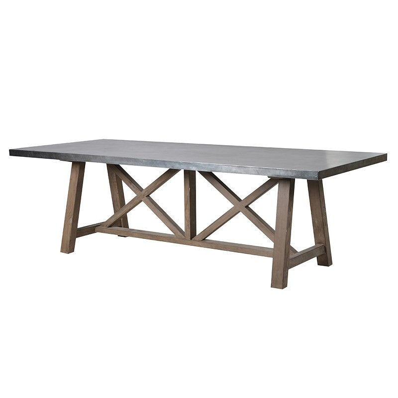 Modern X Frame Dining Table