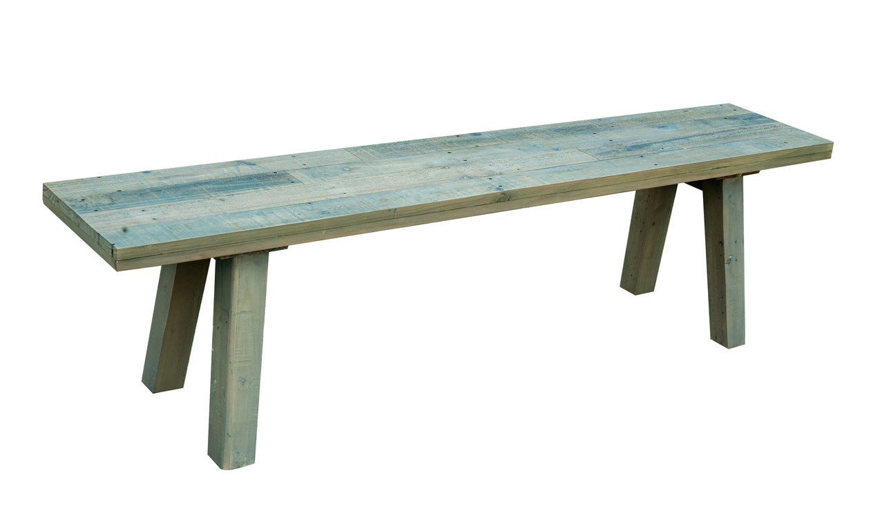 rustic reclaimed bench