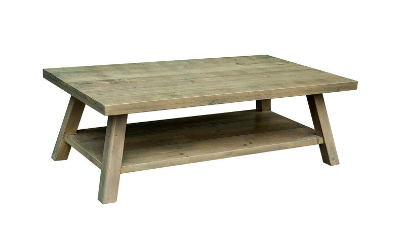 Rustic Retro coffee table with shelf