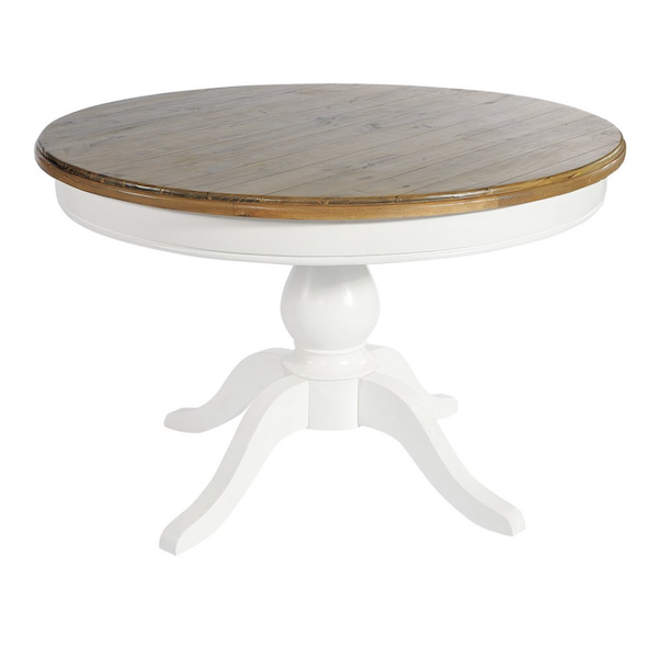 Cream  Hand Painted Round Dining Table