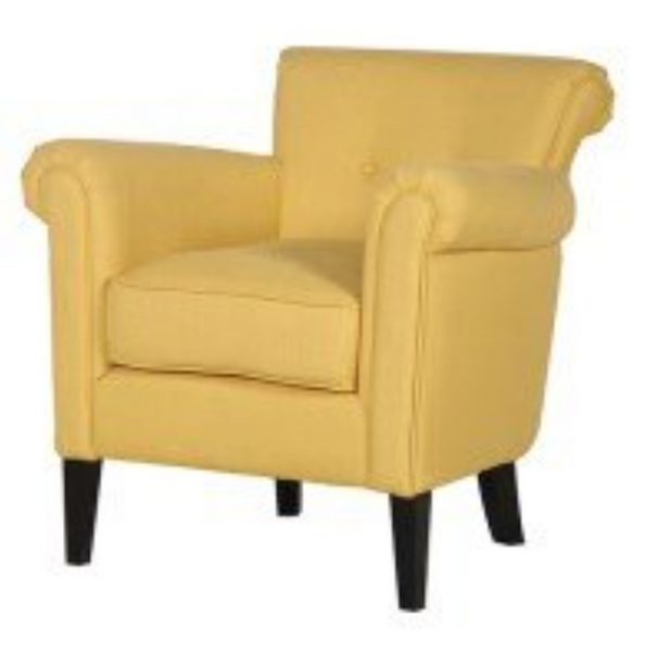 Yellow Tub Style Arm Chair