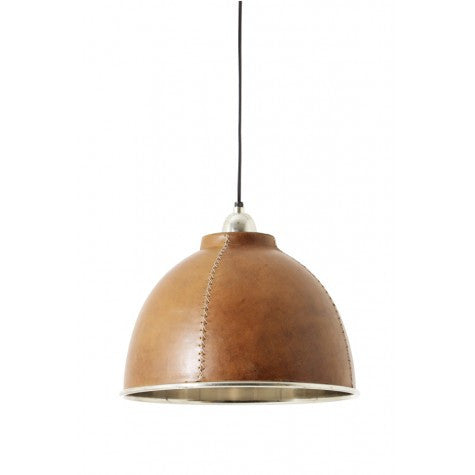 Leather Bound Hanging Lamp
