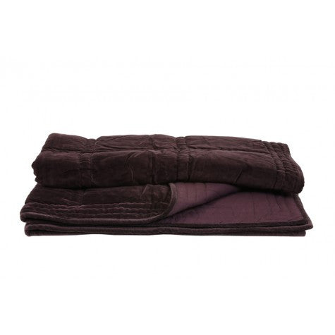 Deep purple velvet throw