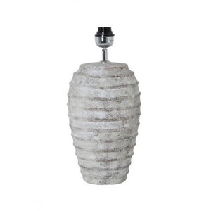 Tall Stone Effect Ribbed Lamp Base