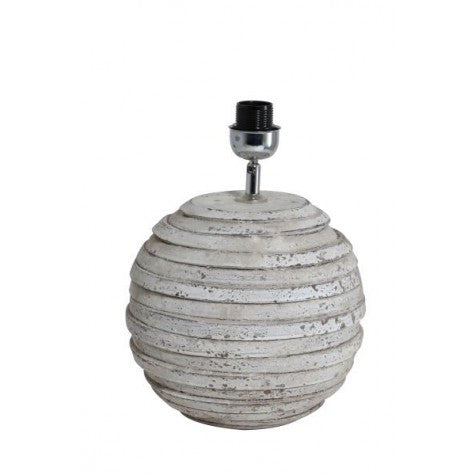 Round Stone Effect Lamp Base