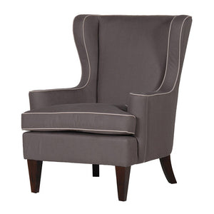 Wing chair in grey