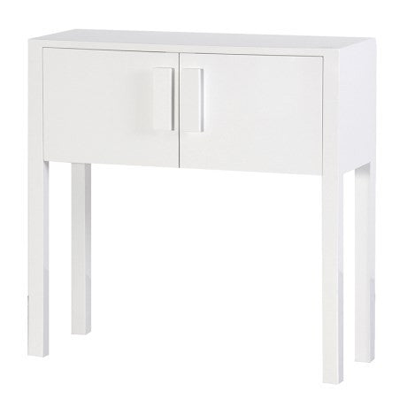 White high gloss console cupboard