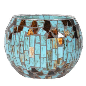Turquoise Mosaic T-Light Holder