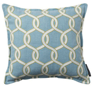 Blue Trellis pattern cushion
