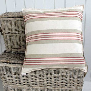 Nautical striped cushion