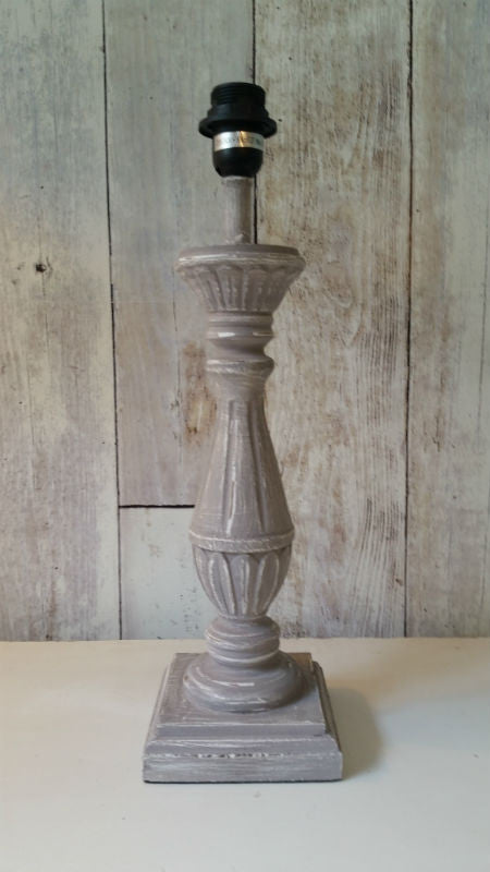 Grey Fluted Lamp