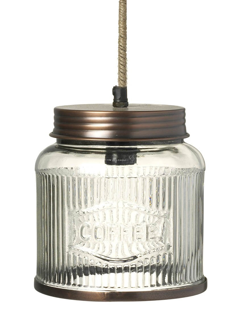 Coffee Jar Pendant Lamp