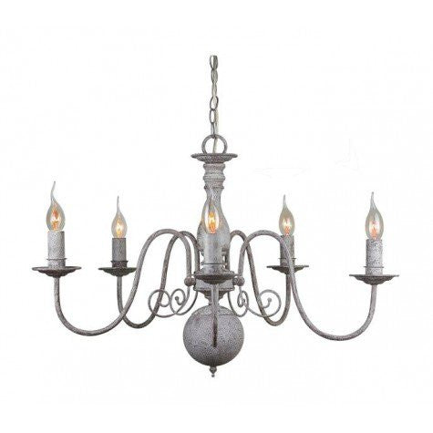 large grey painted chandalier