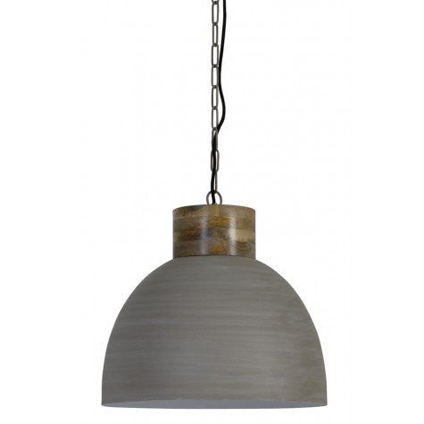 White Concrete Kitchen Pendant Lamp