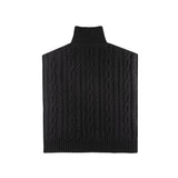 Cable Knit Sideless Sweater - Black
