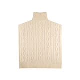 Cable Knit Sideless Sweater - Off-White