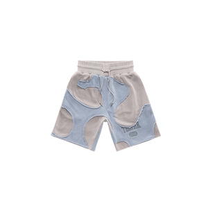 Camo Sweatshort - Blue/Bone