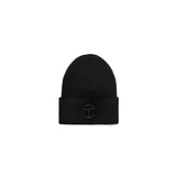 Embroidered Beanie - Black/ Black
