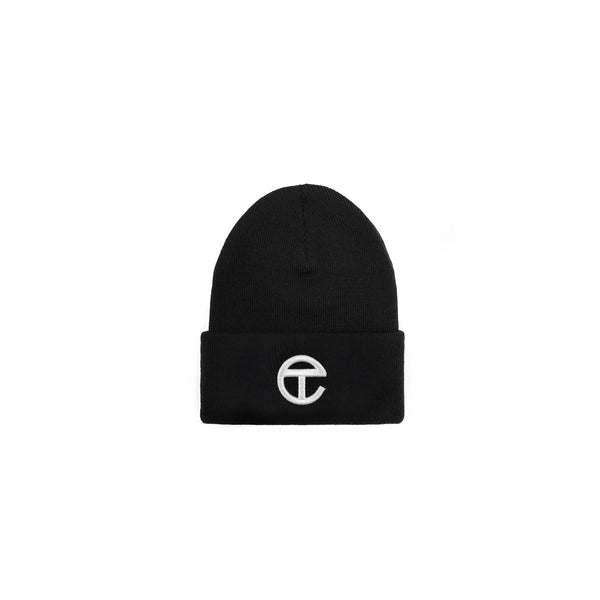 Embroidered Beanie - White/Black