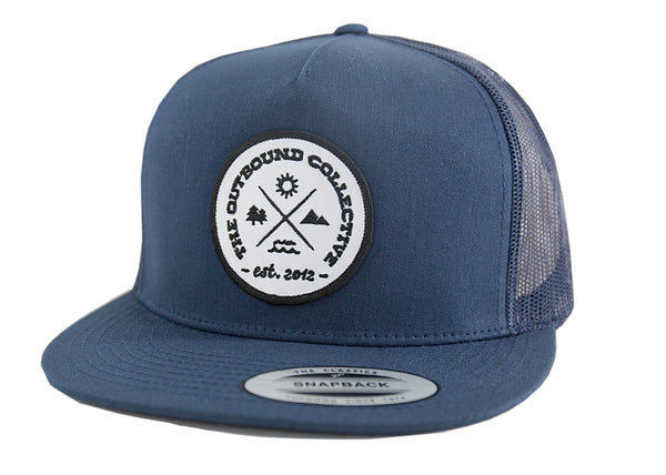 Adventure Trucker Hat (Navy) – The Outbound a94cfeb51e4