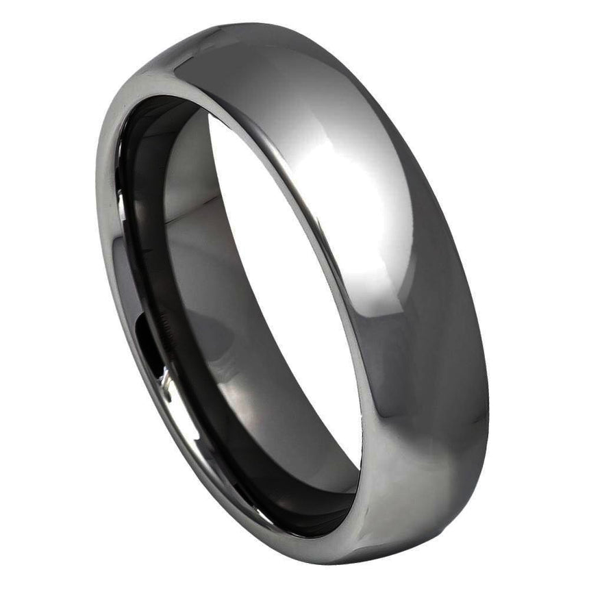 Tungsten Carbide Polished Ring 6mm