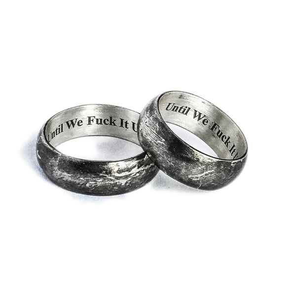 """Until We Fuck It Up"" Engagement Rings (Pair)"