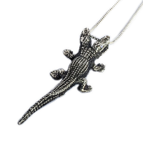 Two-Headed Alligator Necklace