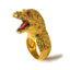 18k Gold Godzilla Ring w/ Ruby Eyes